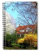 House On The Hill In Spring Spiral Notebook