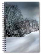 House On The Hill Winters In Vermont Spiral Notebook