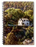 House On The Side Of The Mountain Spiral Notebook
