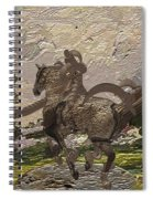 House Statue In The Field Spiral Notebook