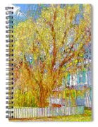 House With White Picket Fence Spiral Notebook