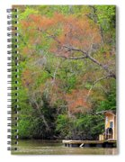 Houseboat On The Apalachicola River Spiral Notebook