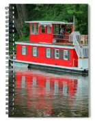 Houseboat On The Mississippi River Spiral Notebook