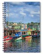 Houseboats - 3 - Lake Union - Seattle Spiral Notebook