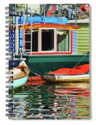 Houseboats 4 - Lake Union - Seattle Spiral Notebook