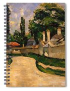 Houses Along A Road Spiral Notebook