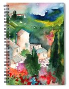Houses In Montepulciano In Tuscany 01 Spiral Notebook