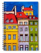 Houses In The Oldtown Of Warsaw Spiral Notebook