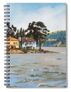 Houses Next To Water Spiral Notebook