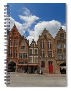 Houses Of Jan Van Eyck Square In Bruges Belgium Spiral Notebook
