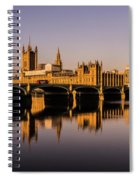 Houses Of Parliament With Westminster Bridge. Spiral Notebook