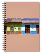 Houses On Street In Leon, Nicaragua Spiral Notebook