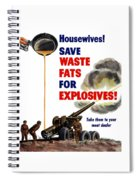 Housewives - Save Waste Fats For Explosives Spiral Notebook