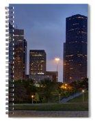 Houston Nighttime Skyline Spiral Notebook