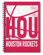 Houston Rockets City Poster Art Spiral Notebook