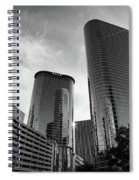 Houston Skyscrapers Black And White Spiral Notebook
