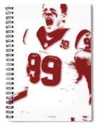 Houston Texans Jj Watts Spiral Notebook