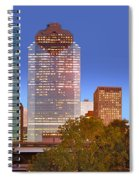 Houston Texas Skyline At Dusk Spiral Notebook