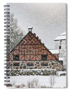 Hovdala Castle Gatehouse And Stables In Winter Spiral Notebook