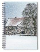 Hovdala Castle Main House In Winter Spiral Notebook