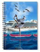 Hoverboarding Across The Atlantic Ocean Spiral Notebook