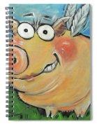 Hovering Pig Spiral Notebook