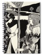How Morgan Le Fay Gave A Shield To Sir Tristran Spiral Notebook