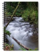 How The River Flows Spiral Notebook