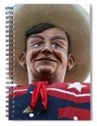 Howdy Folks - Big Tex Portrait 02 Spiral Notebook