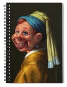 Howdy With A Pearl Earring Spiral Notebook