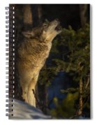 Howl In The Woods Spiral Notebook