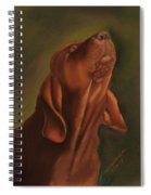 Howling Bloodhound Spiral Notebook