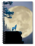 Howling Coyote Spiral Notebook