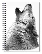 Howling Timber Wolf Spiral Notebook
