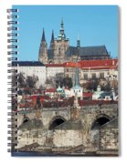 Hradcany - Cathedral Of St Vitus And Charles Bridge Spiral Notebook