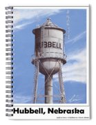 Hubbell Water Tower Poster Spiral Notebook