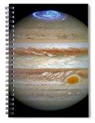 Hubble Captures Vivid Auroras In Jupiter's Atmosphere Spiral Notebook