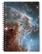 Hubble's 24th Birthday Snap Of Monkey Head Nebula Spiral Notebook