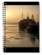 Huddled Boats Spiral Notebook