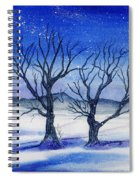 Huddled On A Snowy Field.  Spiral Notebook