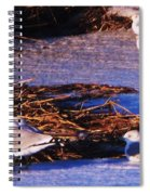 Huddling On A Winter Day  Spiral Notebook