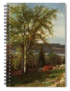 Hudson River At Croton Point Spiral Notebook