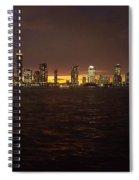 Hudson River At Dusk Spiral Notebook