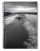 Hudson River In Winter Spiral Notebook