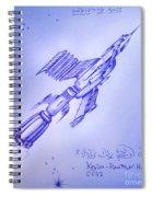 Huge Space Shuttle. In Antiworld Spiral Notebook
