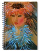 Hula In Turquoise Spiral Notebook