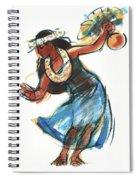 Hula Dancer With Uli Spiral Notebook