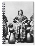 Hula Dancers, C1875 Spiral Notebook