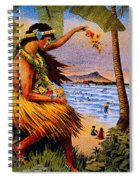 Hula Flower Girl 1915 Spiral Notebook