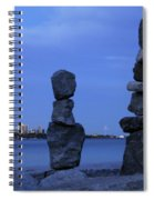 Human Figures Made From Stones At Night Spiral Notebook